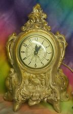 Vintage Lanshire Electric Self Starting Mantel Clock Model T3 Made In USA