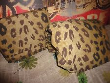 DAN RIVER WHITE LEOPARD ARAGON SAFARI BLACK BROWN ANIMAL (2PC) TWIN SHEET SET