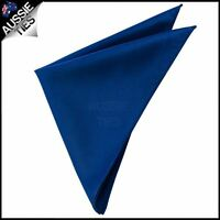 Mens Navy Blue Pocket Square Handkerchief