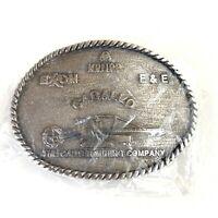 Caballo Carter Mining Company Exxon Krupp F&E Silver Tone Belt Buckle