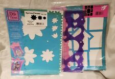 Reusable DIY Painting Drawing Stencil Template Flower Heart Collage NEW