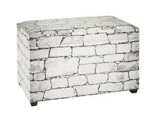 Sitztruhe Moderner Brick Look Spielzeugkiste Softclose Kunstleder