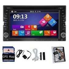 2 Din HD Car DVD Player Touch Screen GPS SAT Stereo Audio Receiver USB G7907+TF