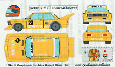 1/24 1977 BMW 320i #23 Mosport Villenuve and Cheever decal set Museum Collection
