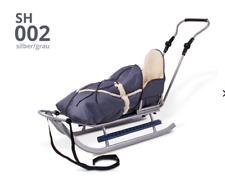 Schlitten mit Rückenlehne Schieber Fußsack Bob  Schlitten Babyschlitten ID272