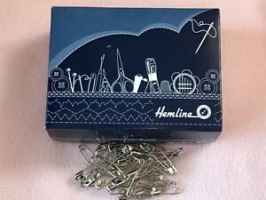 HEMLINE HB.2 CURVED SAFETY PINS 37mm  ~ VARIOUS QUANTITIES ~ QUILTING ~ SEWING