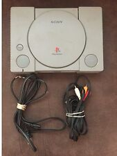 Sony PlayStation Gray Console + AV/Power Cables + Tested & Confirmed Working!