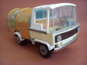 Old tin toy zbik garbage truck made in Poland