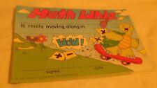 """Child's Award Card-""""Math Award""""-10 Count-Math Whiz-Skateboarding Turtle"""