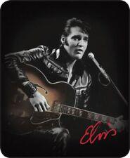 Queen Elvis Presley Leather Jacket Guitar Mink Blanket Super Soft Fleece Gift