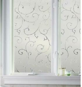 """Artscape Etched Lace 36""""in x 72"""" Stained Glass Applique Window Film Door Privacy"""