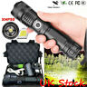 900000 LumenHigh Power XHP50 Zoom Flashlight LED Rechargeable Torch Headlamp New
