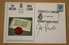 THE ROYAL BRITISH LEGION 1981 COVER SIGNED BY POLITICIAN JOHN PRESCOTT