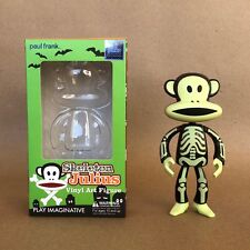 Paul Frank Signed Sketched Julius Sock Monkey Glow Skeleton Vinyl Art Toy Rare