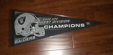 OAKLAND RAIDERS 2002 AFC WEST DIVISION CHAMPIONS PENNANT