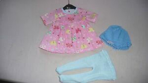 Puppenkleidung Schmetterlingszeit für Babypuppe 40-43cm