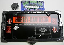 harley davidson 2 in 1 license plate auto car truck frame chrome bike tag scull