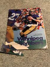 1978 Toronto Argonauts v Winnipeg Blue Bombers CFL Football Program 6/22