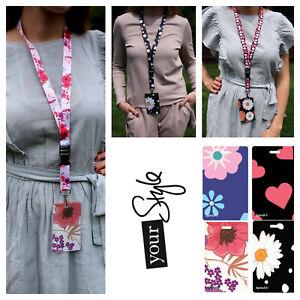 Name Lanyard neck strap + Id badge holder (Set Lanyard + Badge holder) Soft pvc