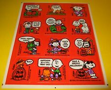 Vtg 80s Hallmark HALLOWEEN Stickers~PEANUTS~Snoopy~GREAT PUMPKiN CHARLiE BROWN