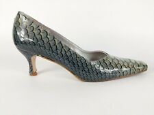 Lisa Kay Snake Print Leather Mid Heel Slip On Shoes Uk 5 Eu 38