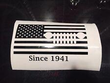 "X1 6"" American Flag Jeep Grill Vinyl Decal COLORS! Rubicon Sahara Tj Jk Cj Sport"