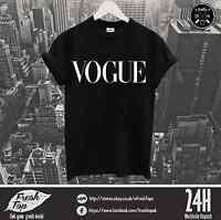Vogue T Shirt Meow Paris London Milan Fashion Model Top Summer Party Ibiza