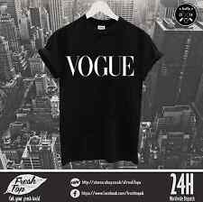 Vogue T Shirt Meow Paris London Milan Model Top Sommer Party Ibiza