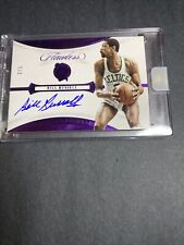 2019-20 Panini Flawless On Card Auto Bill Russell Amethyst 2/3 Flawless Encased