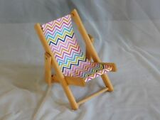 wooden lawn chair for 18 inch dolls like American Girl  Handmade and New