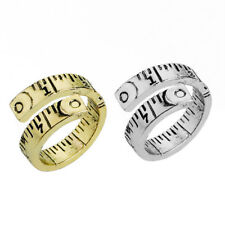 Retro Folding Ruler Ring Sewing Unisex Tape Measure Warp Open Band Ring 1PC