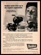 1967 Heddon Fishing Rods & Reels Dowagiac Michigan Freckled Boy Vintage Print Ad