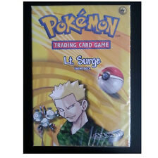 Pokemon Gym Heroes Set Lt. Surge Starter Theme Deck Card Box! Factory Sealed!
