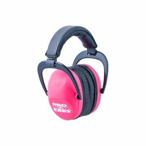 Pro Ears Ultra Sleek Hearing Protection NRR 26 PEUSP Ear Muffs, Pink