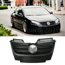 For 06-10 VW MK5 Jetta Front Bumper Upper Grill Grille Sport ABS Plastic Black