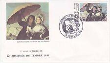 Enveloppe maximum 1er jour FDC 1981 - Journée du timbre Tableau de Goya