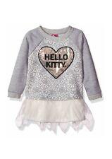 Hello Kitty Big Girls Embellished Tutu Dress Size 12 Heart Gray Sequins NWT $32