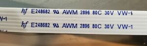 hf E248682 AWM 2896 6 Pin 18.25inches 476mm Long Wide Flex Ribbon Cable 0.25 in