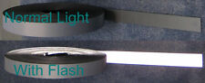 """50 yard roll SILVER REFLECTIVE TAPE FABRIC sew on 1"""""""