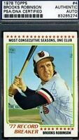 BROOKS ROBINSON PSA/DNA SIGNED 1978 TOPPS SLABBED AUTOGRAPH AUTHENTIC