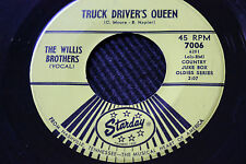 """BOBBY SYKES 45rpm """"Diesel Smoke"""" & WILLIS BROTHERS """"Truck Drivers Queen"""" Starday"""
