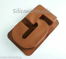 LARGE NUMBER FIVE 5 SILICONE BIRTHDAY CAKE MOULD BAKEWARE PAN TIN BAKING MOLD