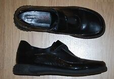 YVES DESFARGE France BLACK leather loafers flats oxfords booties shoes 7 $279
