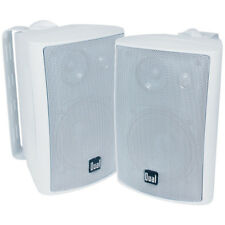 Dual 3-Way Indoor/Outdoor Speakers - Pair- White - LU47PW