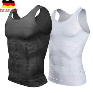Herren Bauchweg Shirt Shapewear Unterhemd Kompression Tank Top Mieder Slim Weste