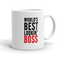 World'S Best Boss Coffee Mug Gift For Great Boss Funny Coffee Cup Gift Men Women