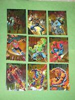 1994 MARVEL UNIVERSE SERIES 5 RAINBOW POWERBLAST INSERT 9 CARD SET POWER BLAST!