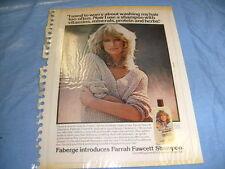 Farrah Fawcett, Charlie's Angels Shampoo Full Page Vintage Print Ad + Mad  /a7