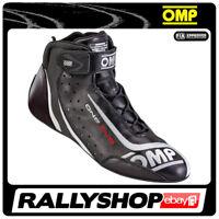 FIA OMP ONE EVO  Fahrerschuh Fahr Rennen Professionell  Motorsport Schwarz