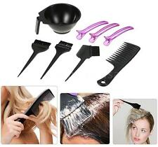 8pcs Hair Dyeing Kit Dyeing Brush Comb Bowl Sectioning Clips Set Salon Tool Z2S3